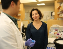 Anna Molofsky, MD, PhD, with graduate student Phi Nguyen. Photo: Mark Wooding